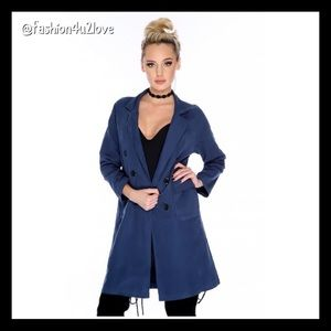 Jackets & Blazers - Trench Coat Double-Breast Front Pocket Lightweigh.
